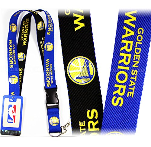 NBA GOLDEN STATES WARRIORS ( 2-TONE ) TWO TONE KEYCHAIN, LANYARD (Goldstar Pens)