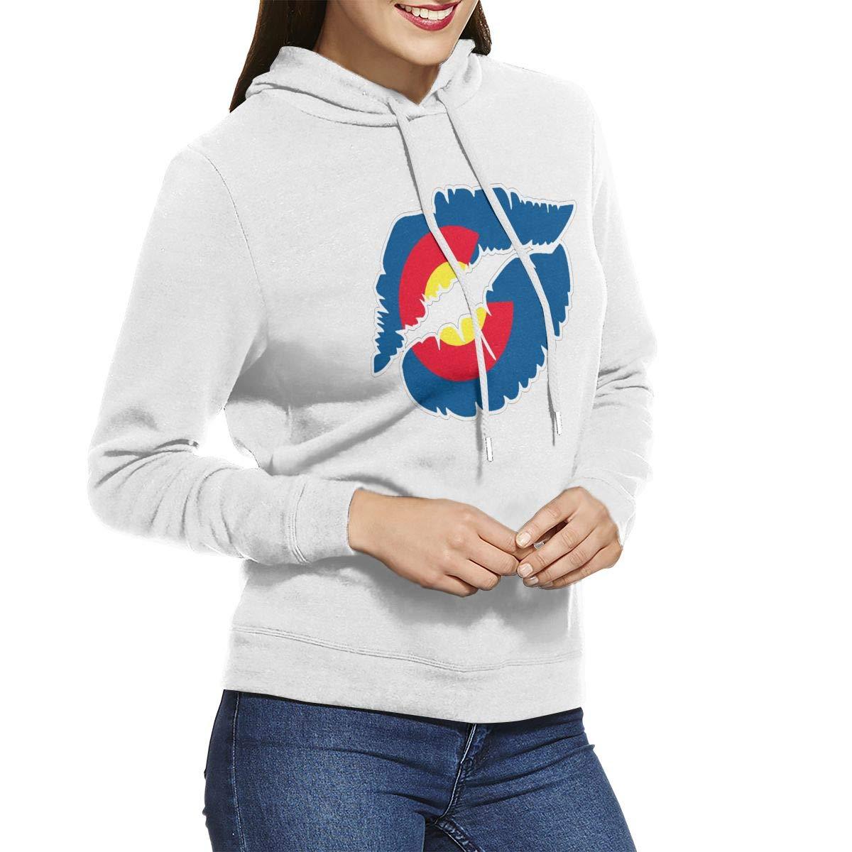 Miuins Colorado Lips Womens Hoodie Pullovers