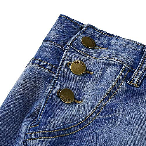 Leggings Courts Bleu Pantalons Pantalons MORCHAN Stretch Skinny Femmes Pantalon Taille Denim Jeans Haute Collants serrs Combinaisons Longs Knickerbockers Crayon Iwwq6aU