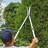 Sungmor Garden 29in. to 42in. Telescopic Hedge Shear,Professional Pruning Shear,Long Handled Extendable Trimmer,Fence Cutter