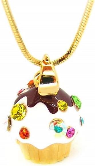 Gold Tone Cupcake Halskette: : Schmuck