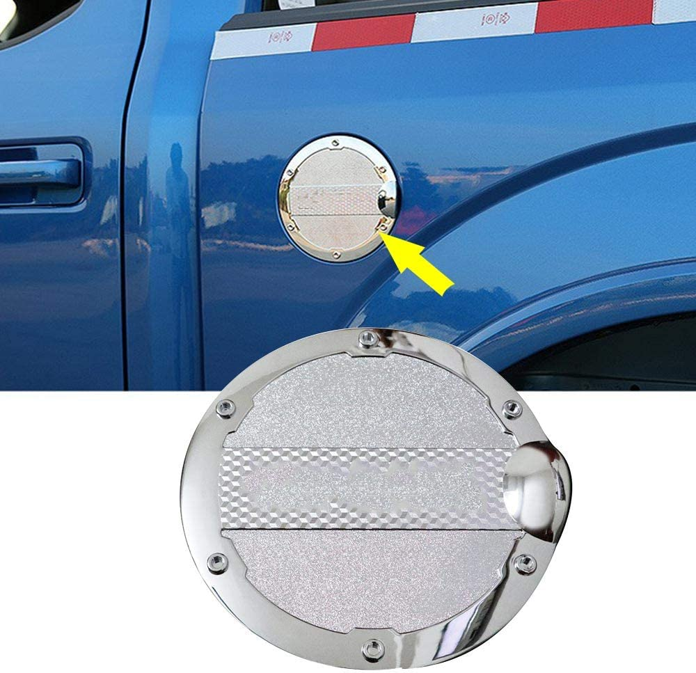 1×Chrome Gas Door Cover Fuel Tank Oil Cap Trim For Ford F-150 F150 Car Accessary