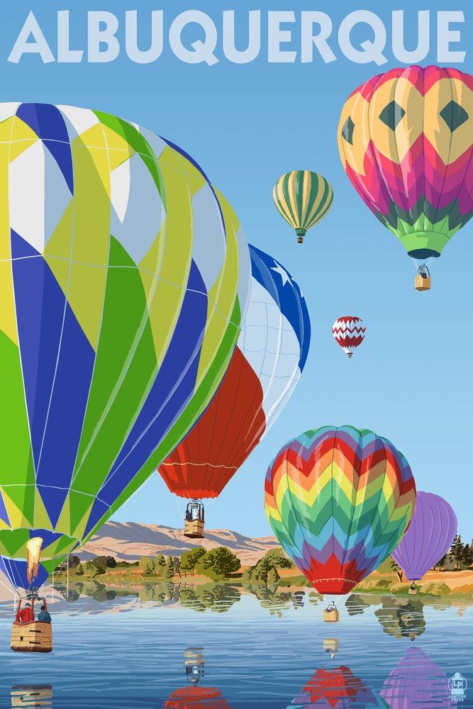 Hot Air Balloons Albuquerque, New Mexico (12x18 Art Print, Wall Decor Travel Poster) by Lantern Press B00N5CL8ZQ 12 x 18 Art Print 12 x 18 Art Print