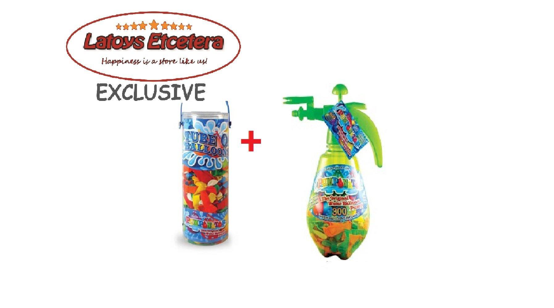Pumponator Water Balloon Pump (Green) and Tube o' Balloons Gift Bundle Set