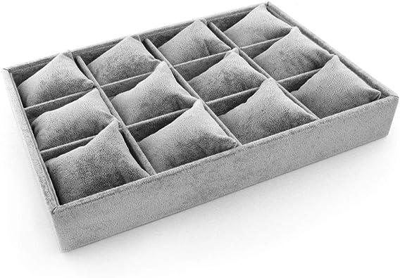 RUBY-Bandejas para Joyas Caja de la joyería Organizador con 12 ...