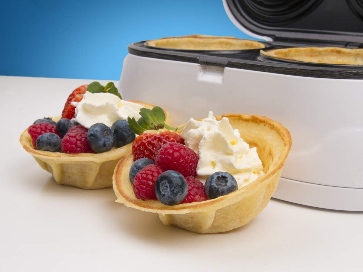 Best for serving ice cream and fruit White Make bowl shapes Belgian waffles in minutes Gift ideas 110V 50//60Hz 1200W SB-SW2238D Double Waffle Bowl Maker by StarBlue