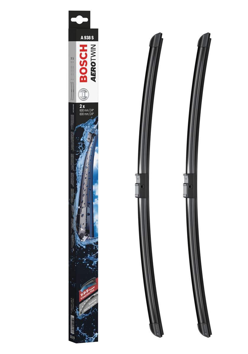 "Bosch Aerotwin 3397118938 Original Equipment Replacement Wiper Blade - 24""/24"" (Set of 2) Side Lock 22mm"