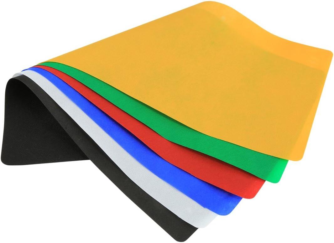 6 PCS Collapsible Photography Studio Background 6 Colors Size: 80cm x 40cm Durable Black, White, Red, Blue, Orange, Green