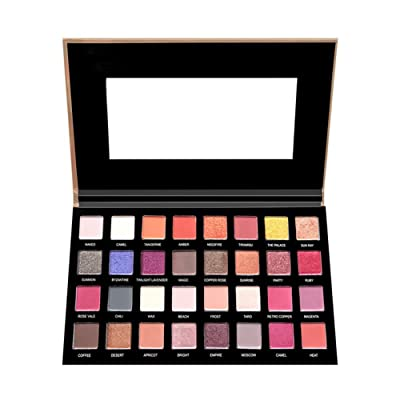 18 Colors Eye Shadow Palette BaiMoon Matte Shimmer Pigmented Eyeshadow Palette Blush Makeup Set for Beauty