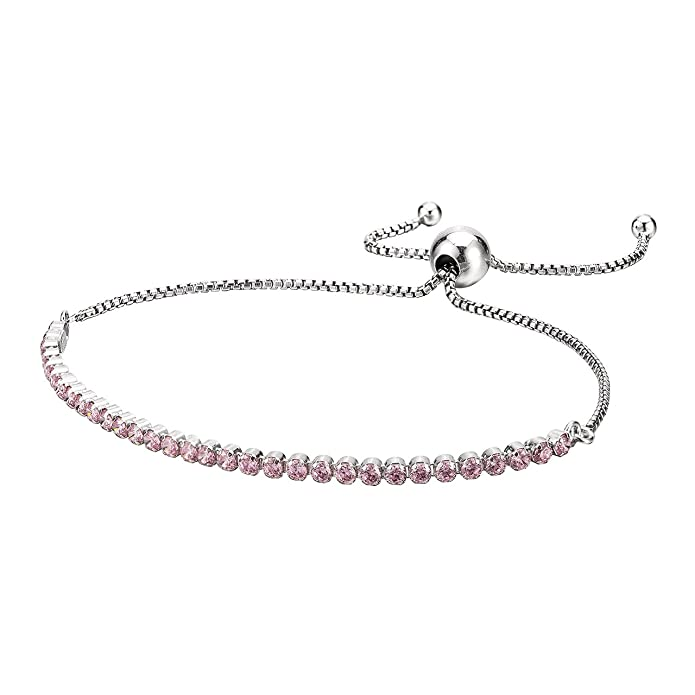 4e6a11069 Amazon.com: PANDORA Sparkling Strand Bracelet, Clear CZ (23 Centimeters),  9.1 Inch; Adjustable Bracelet with Clear Cubic Zirconia; The Gift of Her  Life ...