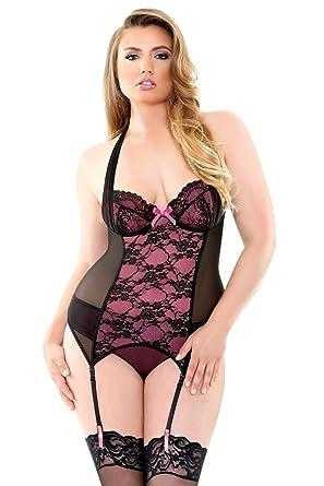 51d56db973c Fantasy Lingerie Curve Gigi Underwire Bustier & Panty Set (Plus Sizes)