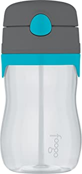 Thermos Charcoal and Teal Foogo Plastic Straw Bottle