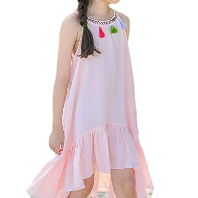 Winwinus Baby Gril Vacation Elegant Relaxed Shoulder Off Gathered Dress