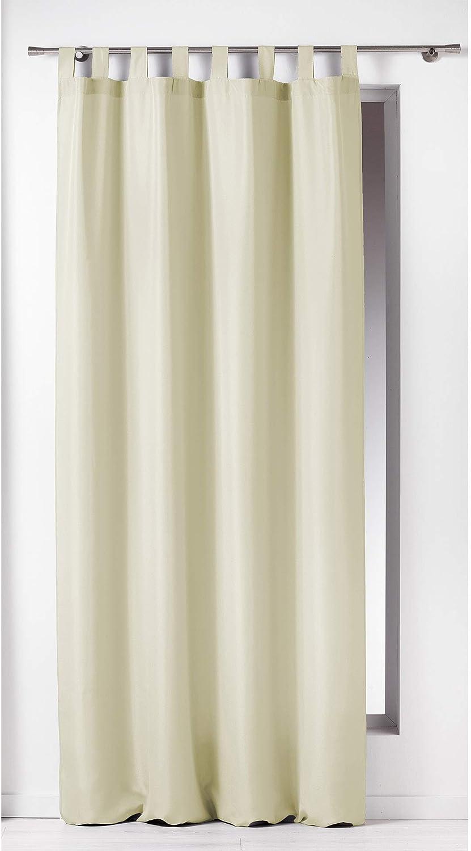 140 X 260 Cm Cortina Trabillas DOUCEUR DINTERIEUR Blanco Poli/éster Liso 1600515 Essentiel
