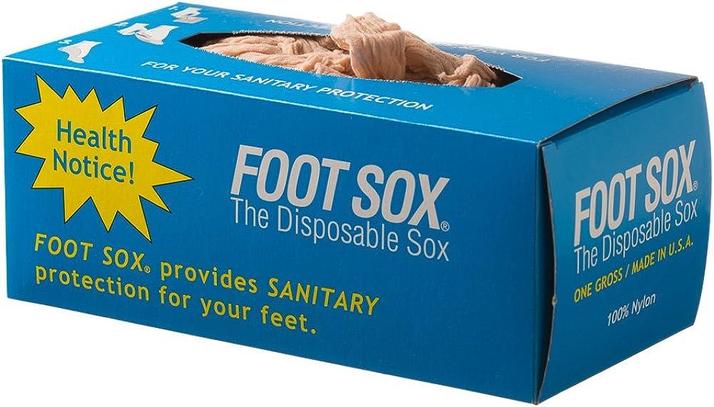 Foot Sox Original Sanitary Disposable Try on Socks (Womens Tan)