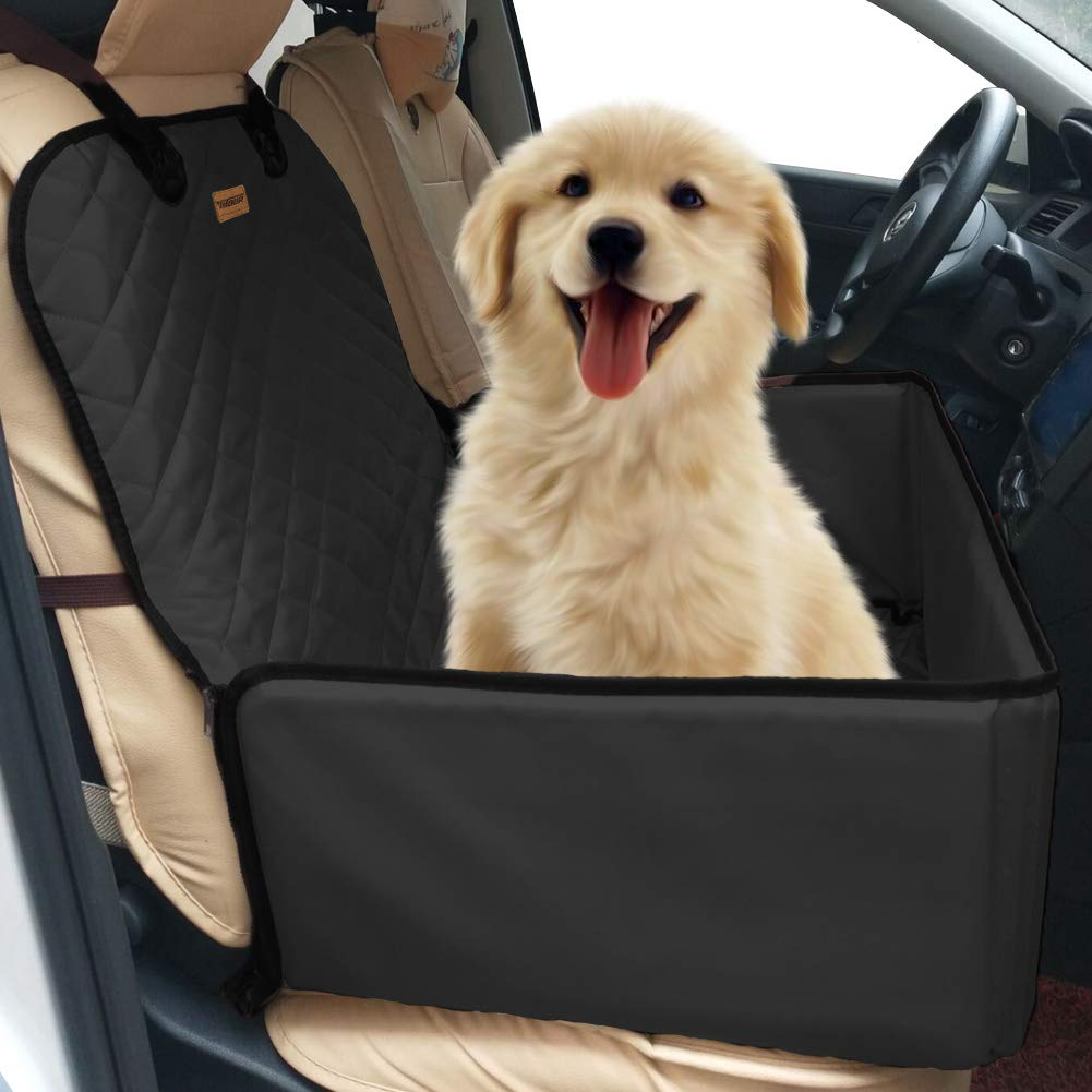 Dog Pet Car Seat Covers – Dog Booster Seat Waterproof Convertible Dog Pet Cat Carriers Paw Protection 100 Return Guarantee Crates Car Seat Organizer Protector Covers for Jeep Suv Front Back Seat