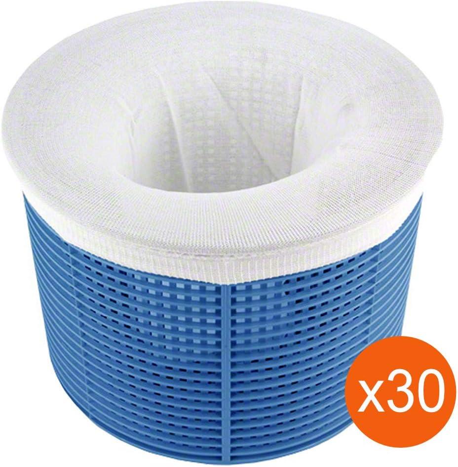 Lodd Pool 30 Chaussettes de Skimmer Haute Qualit/é pr/é Filtre jetable Universel pour Panier de Piscine et Spa