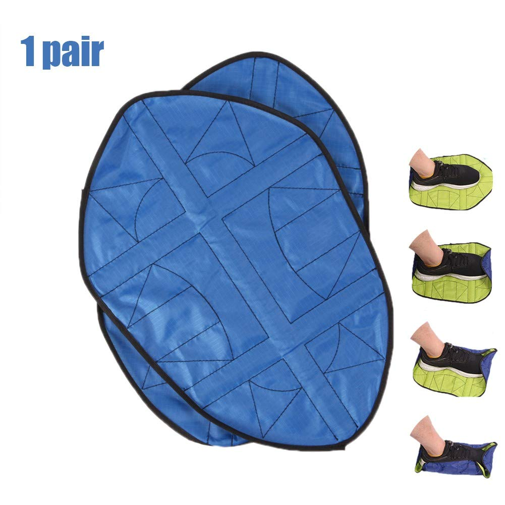 Hands Free Shoe Covers-Step in Sock Shoe Cover Cover Waterproof and Non-Slip Boot Covers Auto Fast,Reusable One Step Portable Automatic Shoe Covers for Sneakers and Boots