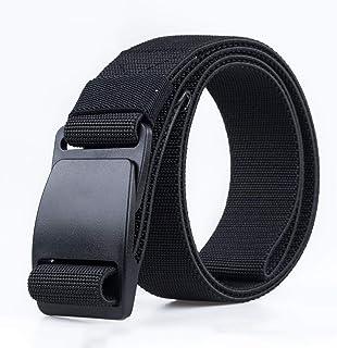 SEEKSUNGM Cintura, Cintura di Tela Uomo, Cintura per Esterni, Resistente all'Uso, Dimensioni: 120cm,Black