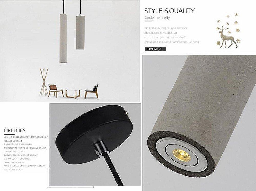 Lampada In Cemento Fai Da Te : W brillight lampada a sospensione lampade cemento industriale