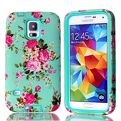 Galaxy S5 Case, Firefish [Slim Fit] Hybrid Heavy Duty Shockproof Protective Cover Hard PC Soft Silicone Bumper Dual Layer Case for Samsung Galaxy S5 - (Cover De Samsung Galaxy 5s)