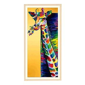 DIY 5D Giraffe Diamond Embroidery Painting Cross Stitch Art Craft Home Decor