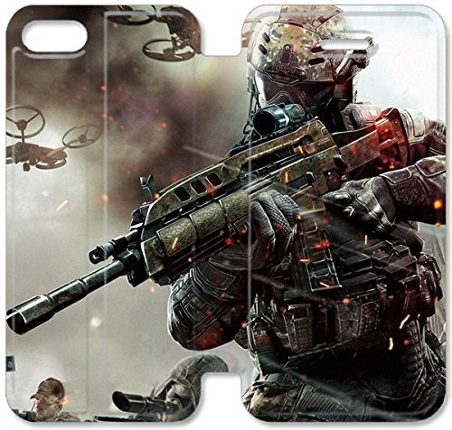 Klreng Walatina® Coque iPhone 6 6s Plus de 5,5 pouces Coque cuir Call Of Duty M2X7Er