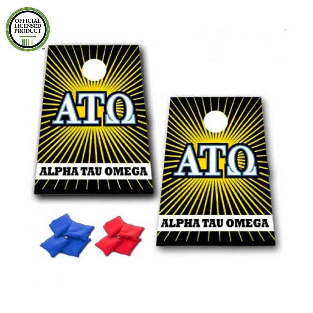 アルファTauオメガCornhole Bag Toss Game – スターバースト – 8バッグ含ま B073JSNDWQ