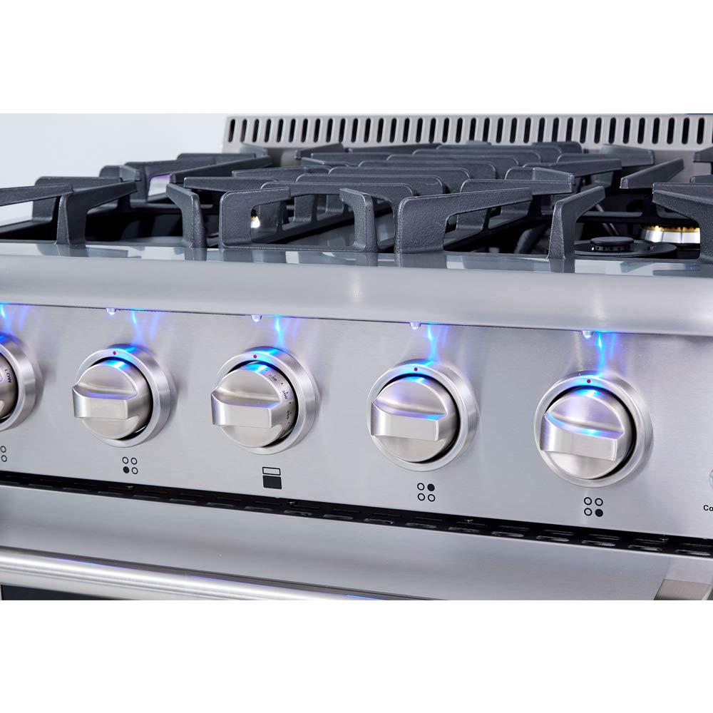 Amazon.com: Thor Cocina hrd3606u 36 inch Free Standing Acero ...