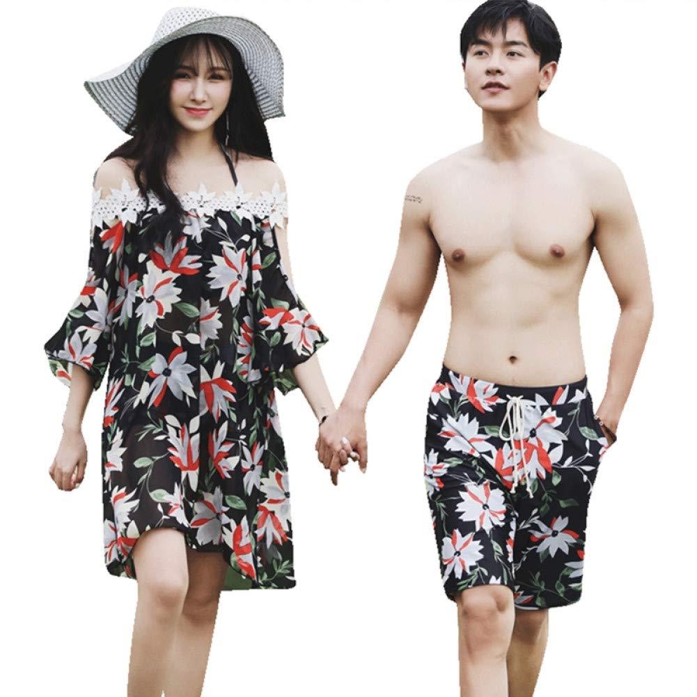 Pour des hommes maillot de bain  DAHDXD Maillot De Bain Couple Bikini Trois Pièces Et Pantalon De Plage pour Hommes