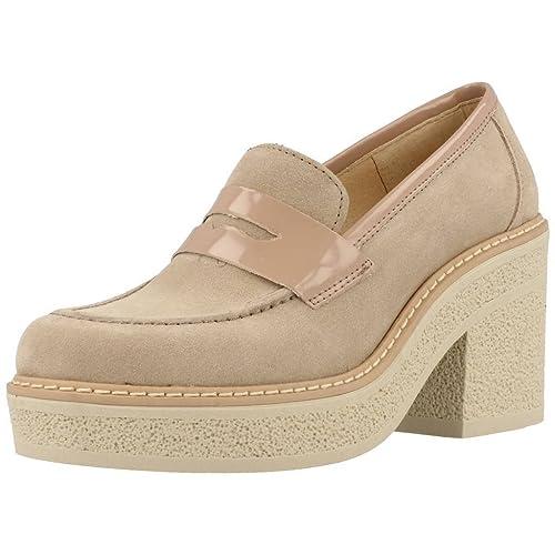 Mocasines para Mujer, Color Hueso, Marca Yellow, Modelo Mocasines para Mujer Yellow Lyon Hueso: Amazon.es: Zapatos y complementos