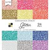 DCWV PS-005-00556 Card Stock 6X6 Glitter Stack, 24 Sheets