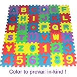Dozenla 36PCS Baby Kids Alphanumeric Educational Puzzle Foam Mats Blocks Toy Gift