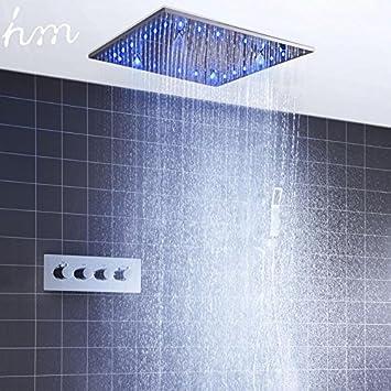 hm LED Decke Dusche Set 20 Zoll konstante temperatur Ändern Nebel ...