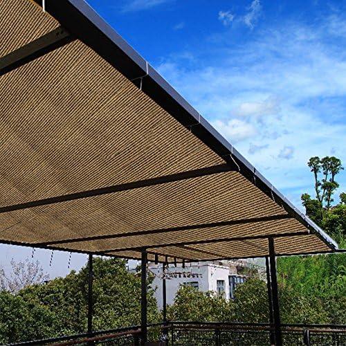 E.Cover Borde de tela de 90% de sombra para telas de café con tapones resistentes a los rayos UV para patio/pergola/anopio, 6 x 100 pies: Amazon.es: Jardín