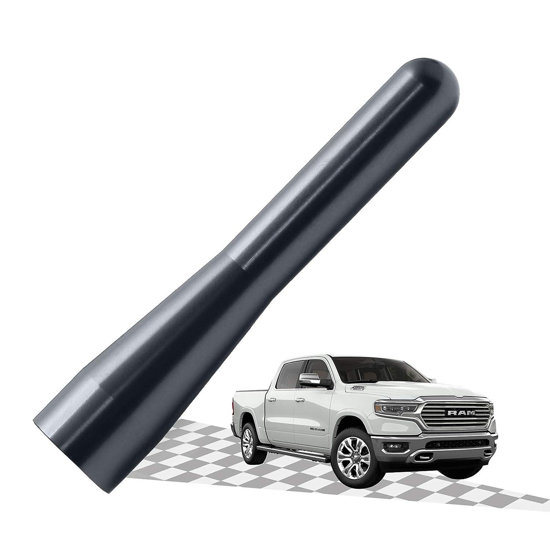 Carbon/Black Optimized AM//FM Reception with Tough Material Elitezip Replacement Antenna for Dodge RAM 1500 2012-2018 3 Inches