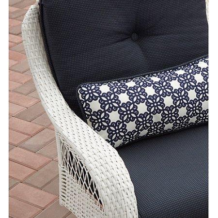Better Homes and Gardens Azalea Ridge 3-Piece Woven Bistro Set, White, Seats 2