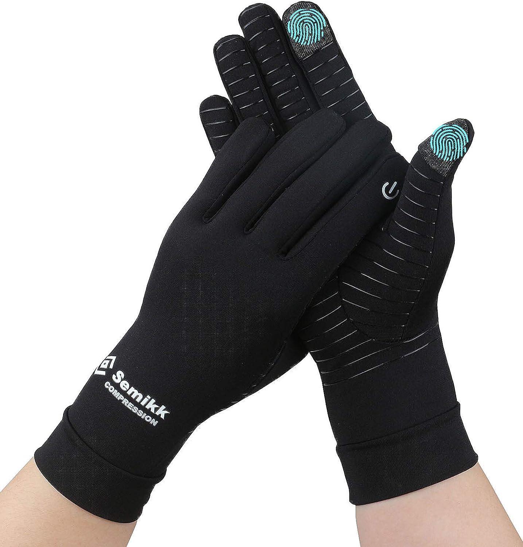 2 Pairs Copper Compression Arthritis Gloves