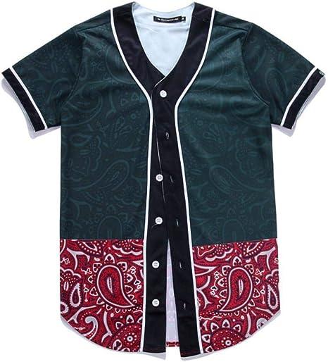 Camiseta Rebeca De Manga Corta Camisa De Béisbol Larga para Hombre Uniforme De Manga Corta De Béisbol Chaqueta De Punto: Amazon.es: Deportes y aire libre