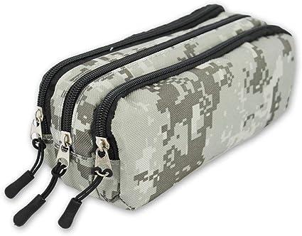 EA4726 - Estuche de camuflaje militar con 3 cremalleras, cuatro diseños a elegir (Militar 3): Amazon.es: Oficina y papelería