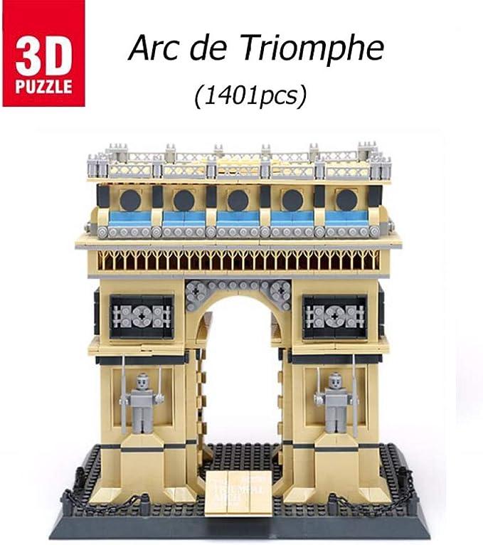 3D puzzle ARC De Triomphe, Puzzles 3D Edificio 3D Model Puzzle ...