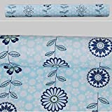 SimpleLife4U Peel & Stick Shelf Liner Adhesive Contact Paper Decorative Cosmetic Box Media Storage,Daisy Floral, 17.7 Inch By 13 Feet