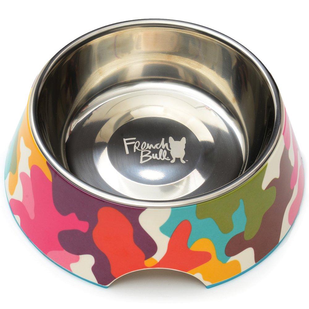 Glamo 24 oz. Glamo 24 oz. French Bull Stainless Steel and Melamine Designer Glamo Dog Bowls for Dogs or Cats, Medium