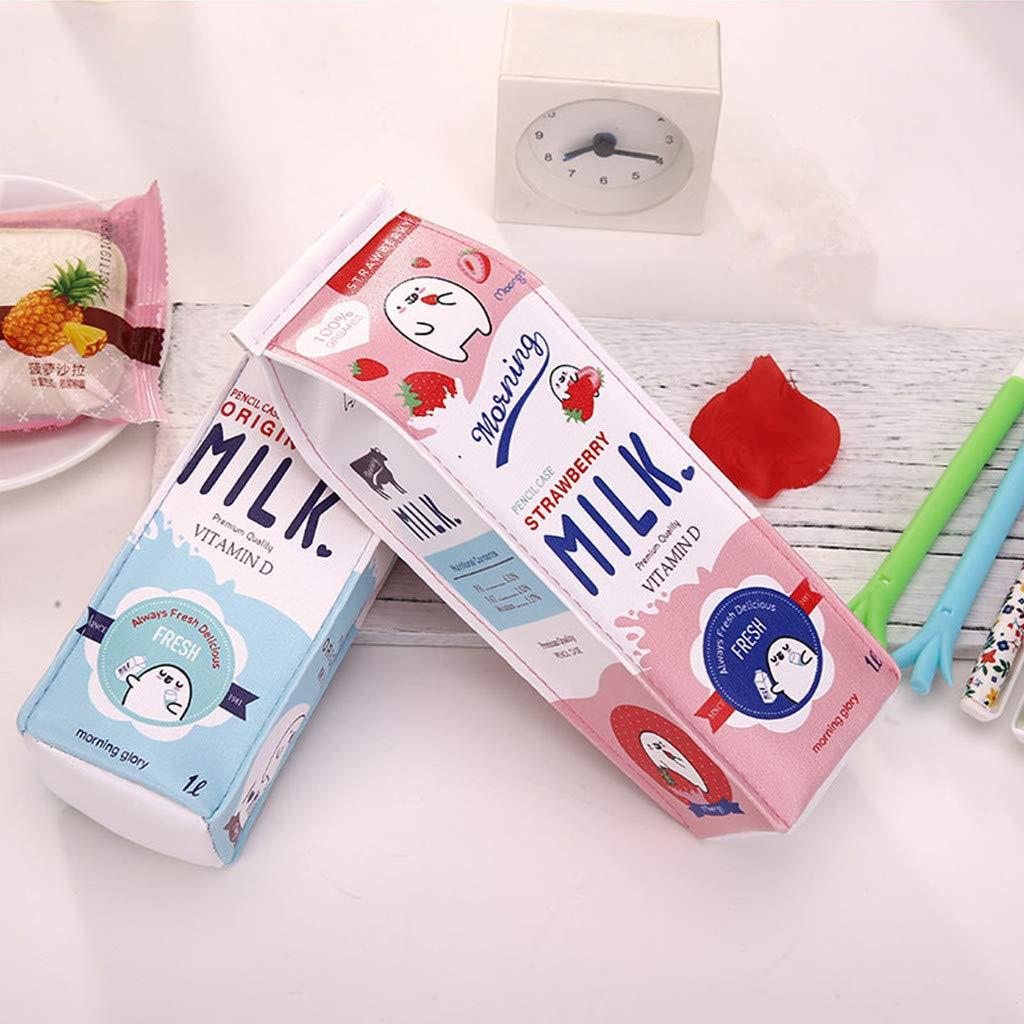 7ad210cdf7f3 LifeDawn Set of 3 Creative Milk Cartons Waterproof PU Big Capacity ...
