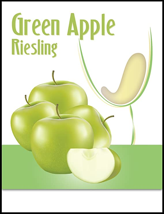 Island Mist Green Apple Riesling Wine Bottle Labels - 30 Count