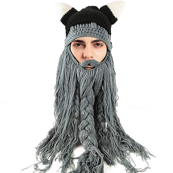 Liny Maschera Barba Sci Uomo Beard - Unisex Moto con Barba Cappello  Berretto Passamontagna con Barba Snowboard Inverno Halloween Cappelli  Lavorato a Maglia ... 8deb5a7d235e