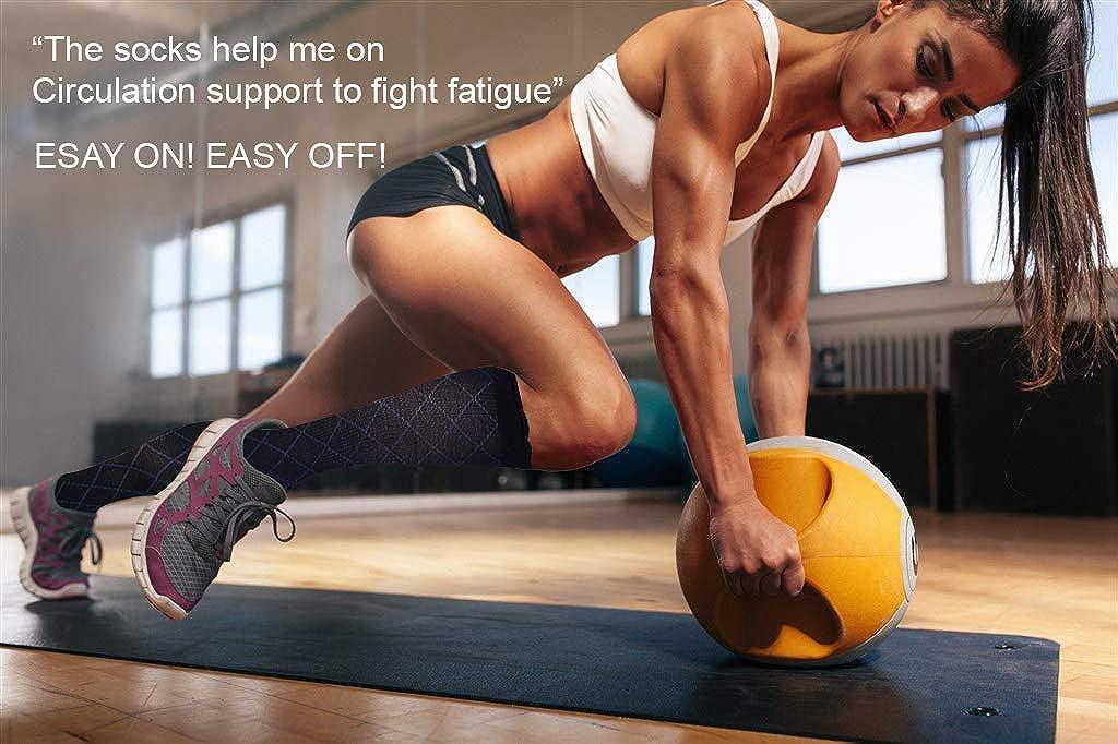 Estisoco 6 Pairs Compression Socks for Women /& Men Medical 8-15mmHg