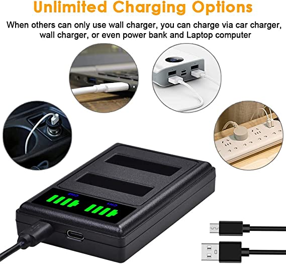 Prettyia AHDBT-401 3 Channel Battery Charger Cradle for Gopro Hero 4 Cameras