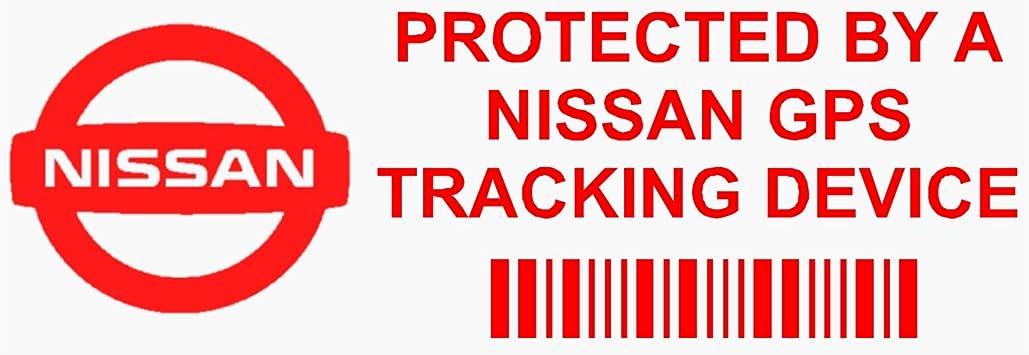 5/x Ppnissangpsred GPS rosso dispositivo di tracciamento finestra adesivi 87 x Van allarme Tracker