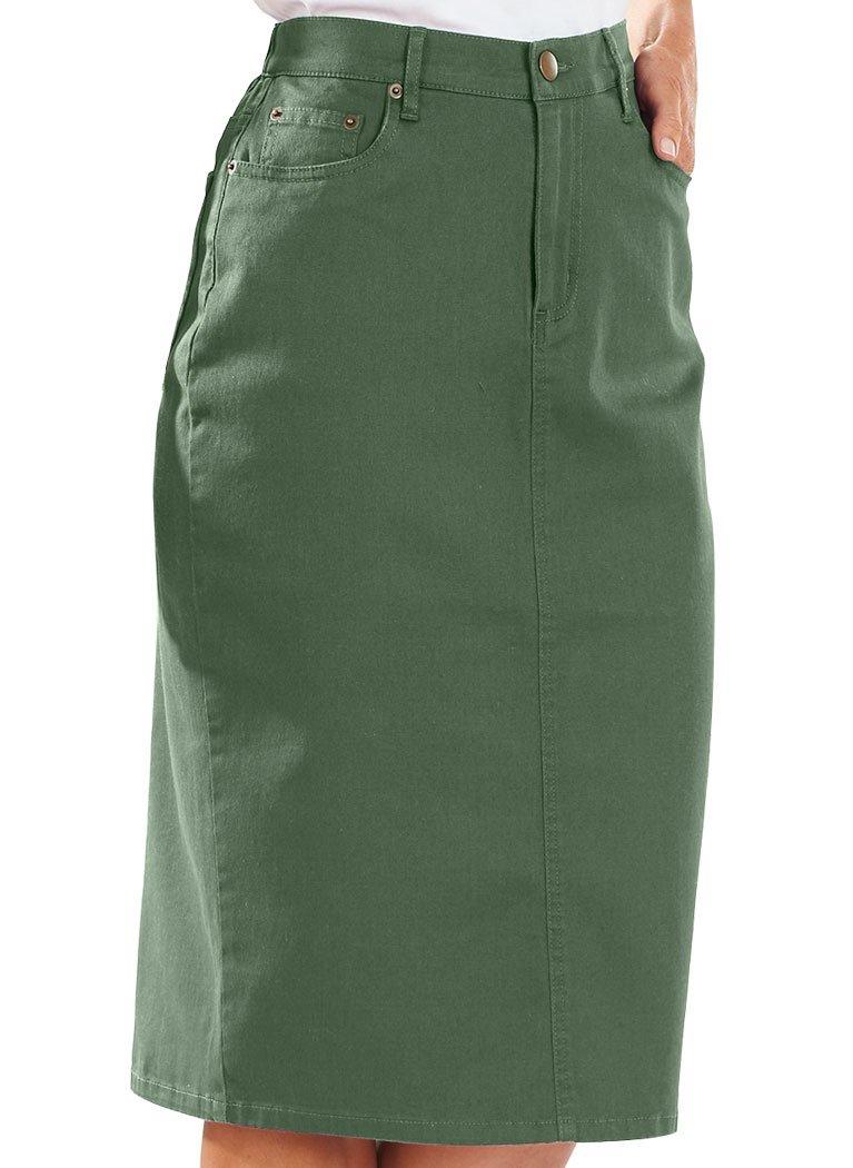 Bend Over Colored Denim Skirt